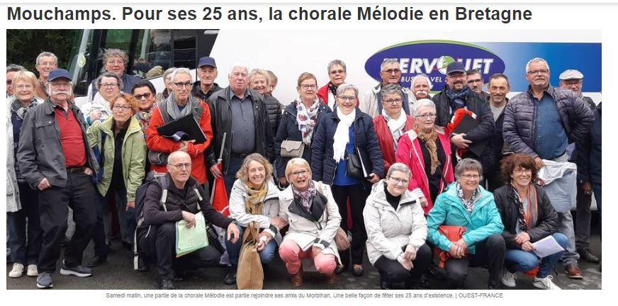 Voyage chorale Mélodie à Saint Avé